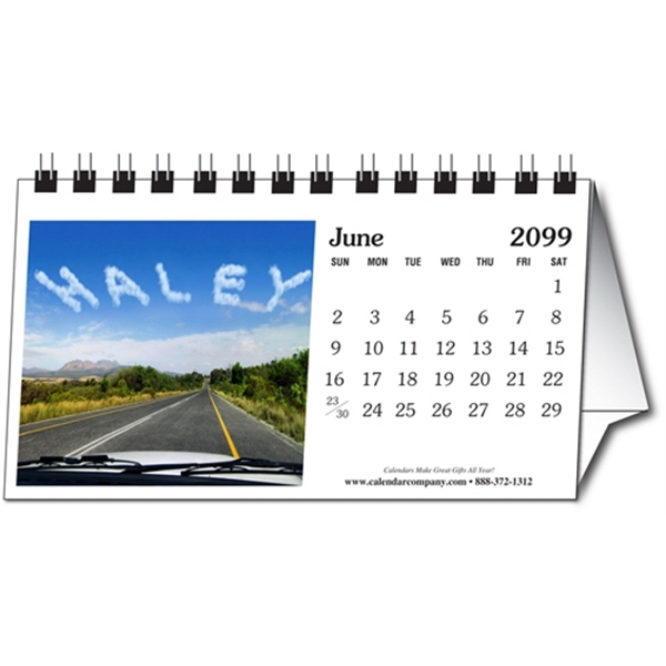 Personalized tent desk calendar