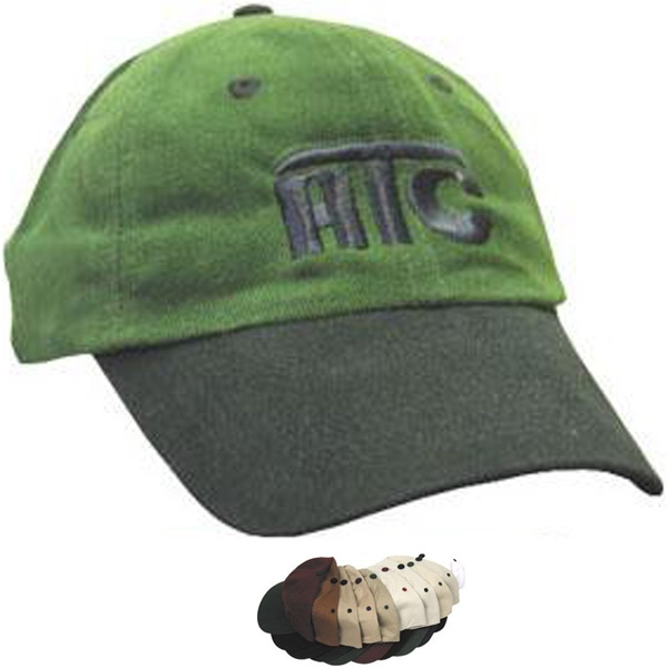 6-panel low profile unstructured brushed cotton cap