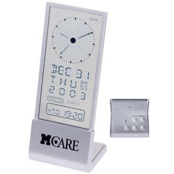 See-through display desk alarm clock