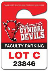 Promotional Plastic hang tag / parking permit - UV Coated (1S)