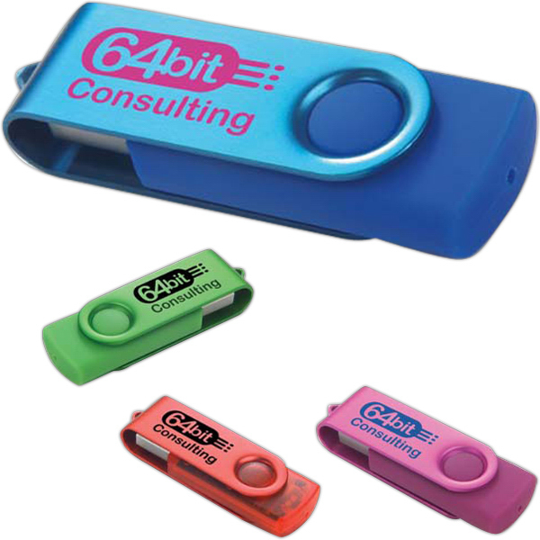 Imprinted Two tone folding USB 2.0 flash drive