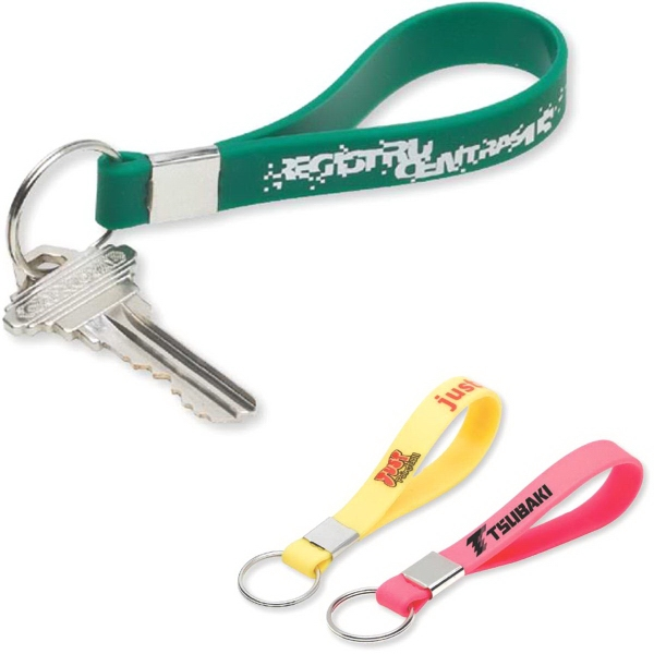 Promotional Silicone strap keyring