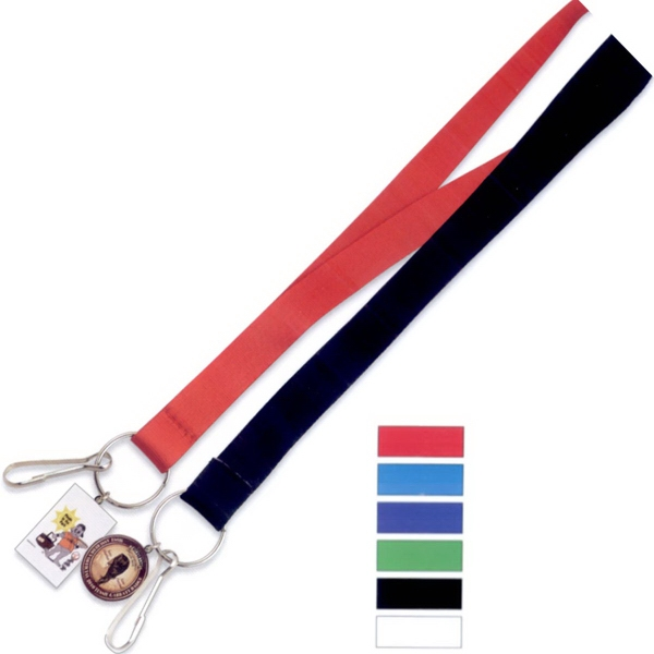 Promotional Blank Stock Lanyard with Dangler