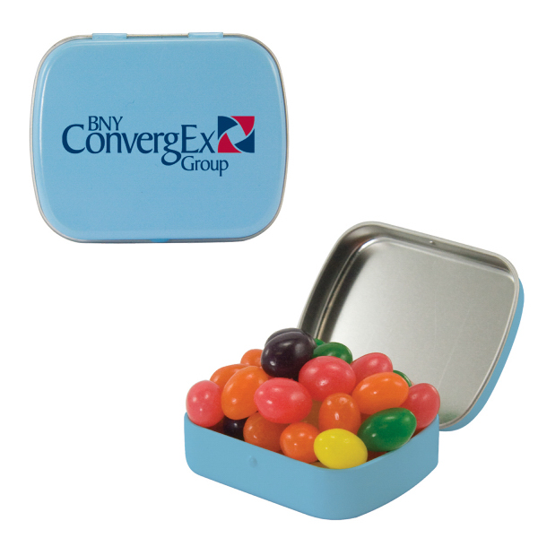 Small Light Blue Mint Tin with Jelly Beans