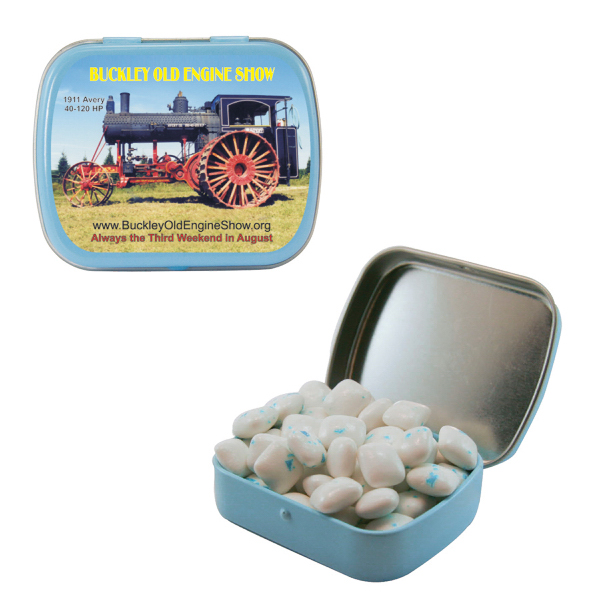 Small Light Blue Mint Tin with Sugar-Free Gum