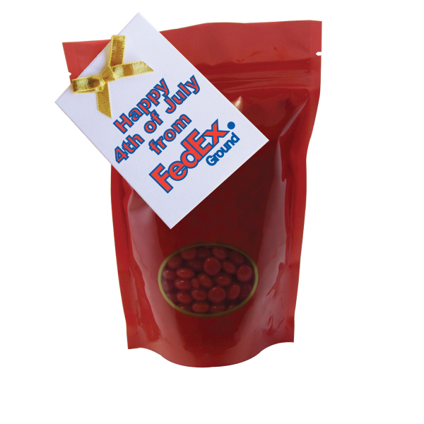 Large Window Bag with Cinnamon Red Hot Candy - Red