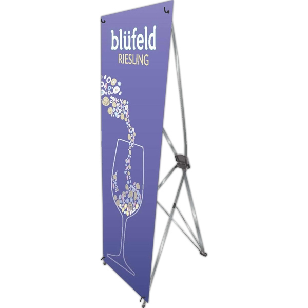 economy x banner display stand 32 quot w x 72 quot h usimprints