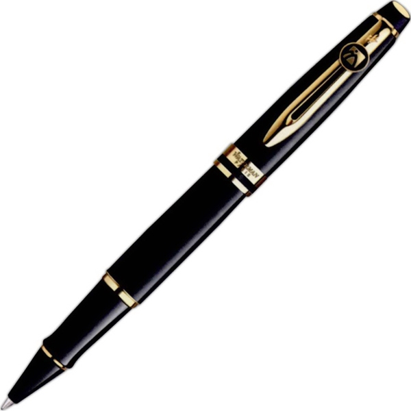 Expert Black Lacquered Roller Ball Pen