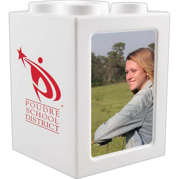 Promotional Stack and show photo frame bank