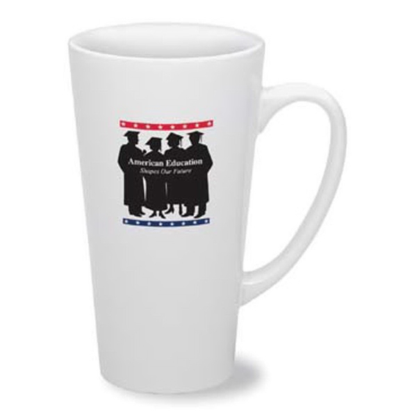 Cafe 16 oz White Mug