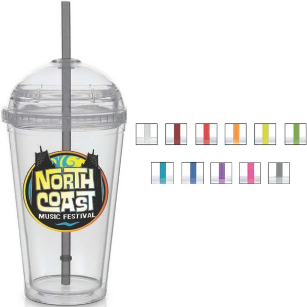 Big Top Cups With Straws : Big top carnival cup color straw clear lid usimprints