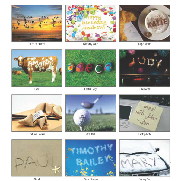 Jewel Case Desk Calendar with Name Personalization