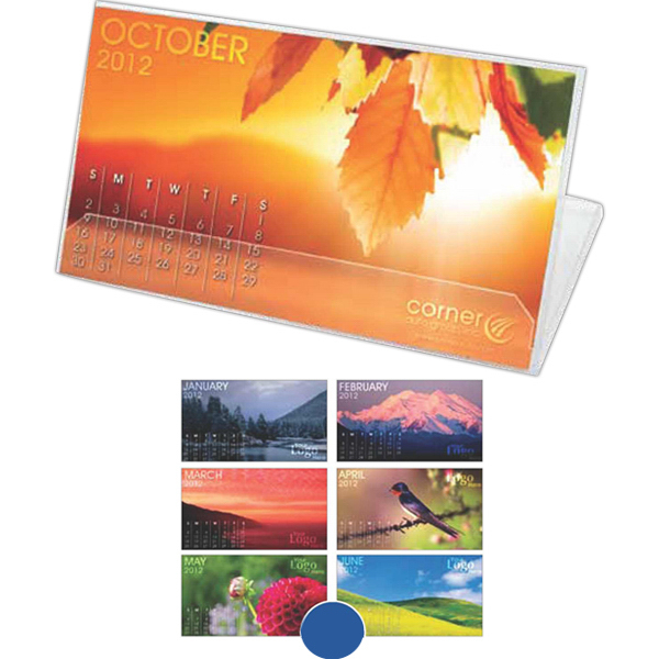 Jewel Case Desk Calendar with Stock or Custom Art