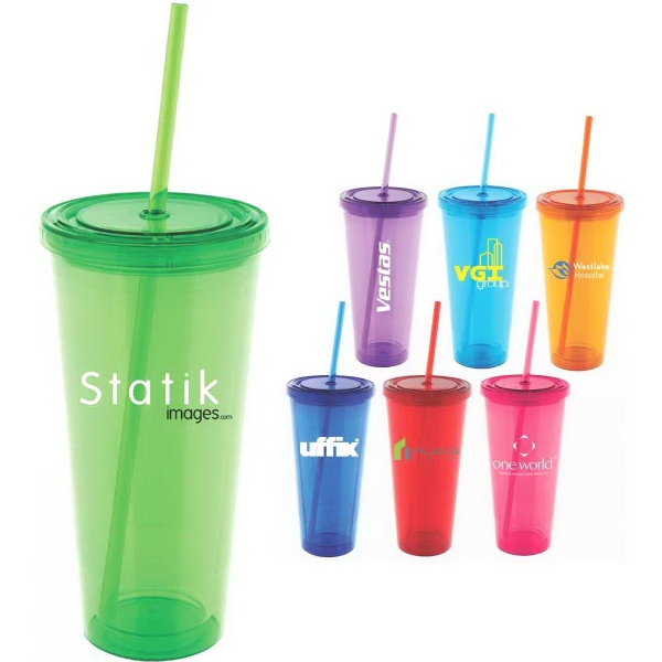 Starlet Colorful 20 oz Double-Wall Acrylic Tumbler
