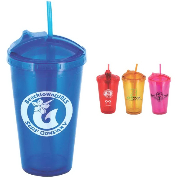 Glissade 16 oz Double-Wall Tumbler
