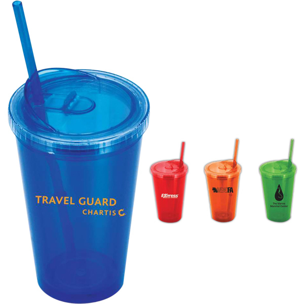 Gemini 16 oz Double-Wall Tumbler w/Enhanced Lid