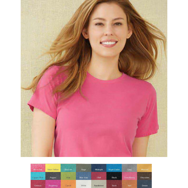 Custom Comfort Colors Ladies' Ringspun Short Sleeve T-shirt