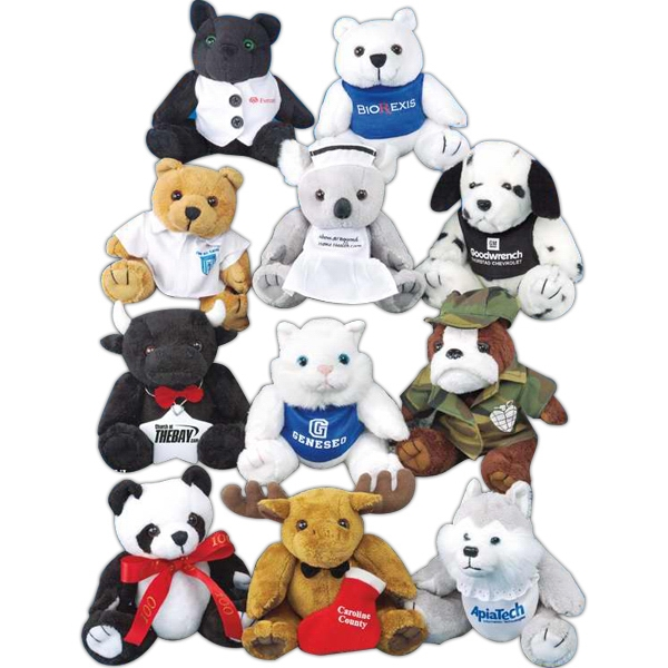 "GB Plush Beanies (TM) 6"" stuffed bear"