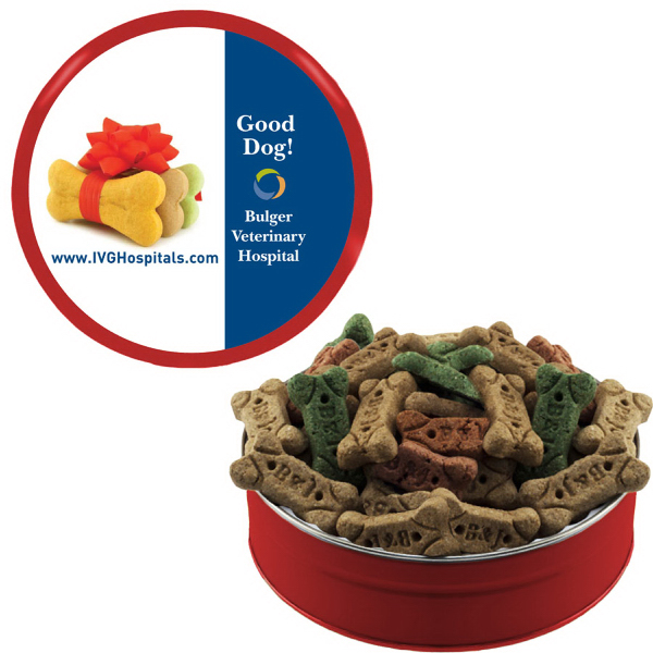 Promotional Grand Tin with Dog Bones/Snacks/Treats