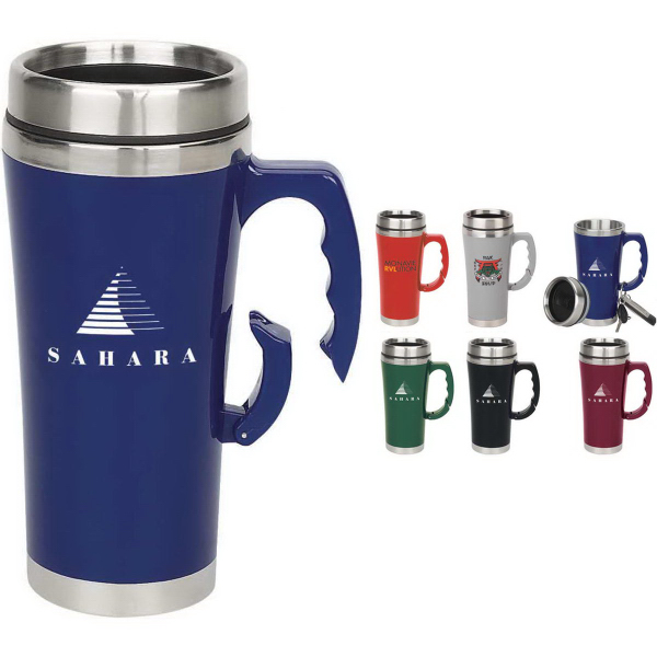 Imprinted 16 oz. Carabineer Travel Mug