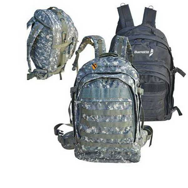 Personalized Heavy duty laptop backpack with MOLLE straps