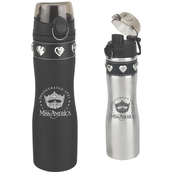 Printed 24 oz. Tuff Luv Stainless Water Bottle