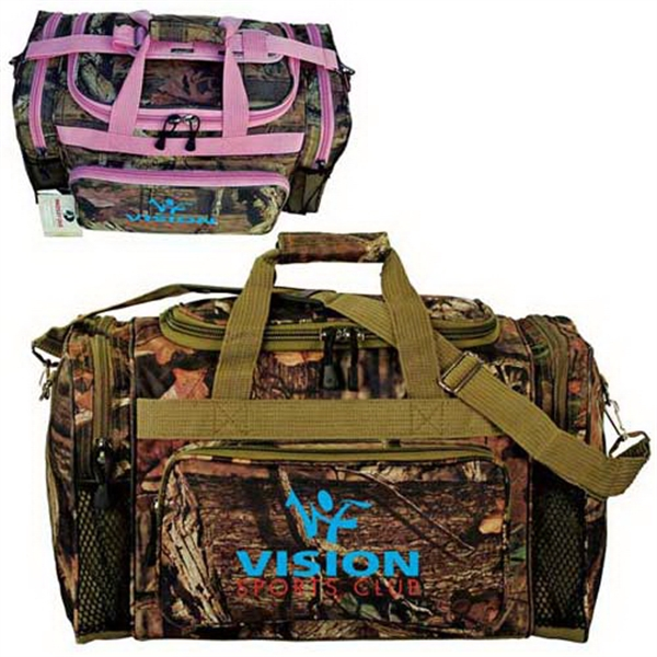 "Custom Mossy Oak (R) camo 20"" outdoor duffel"