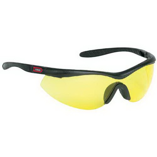 Promotional Single-piece lens wrap-around safety glasses