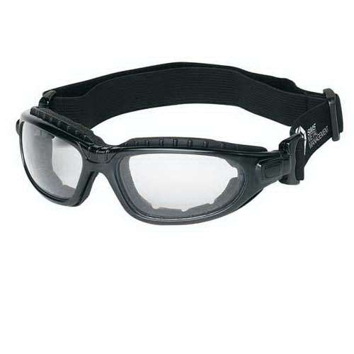 Imprinted Sporty safety goggles with foam padding seal