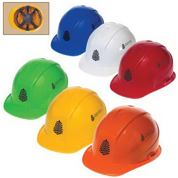 Promotional Cap style hard hat with 6-point pinlock suspension