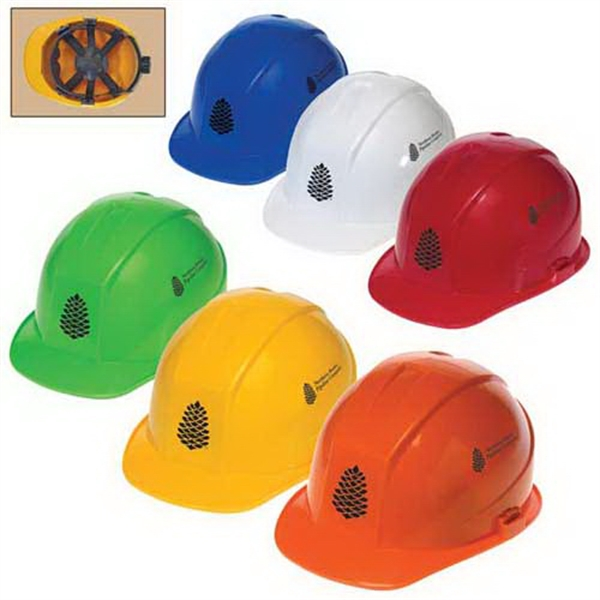 Promotional Cap style hard hat with 6-point ratchet suspension