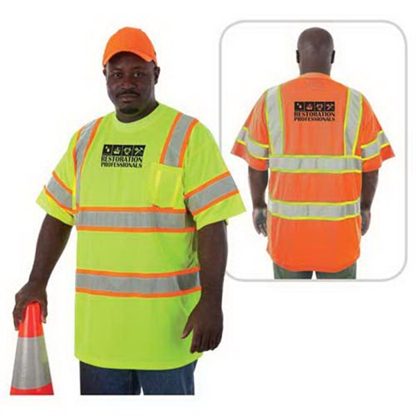 Printed Class 3 compliant Highlight safety T-shirt