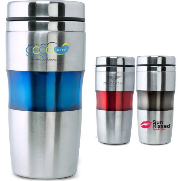 The Aroma Double Walled Stainless Steel Travel Tumbler 16 Oz