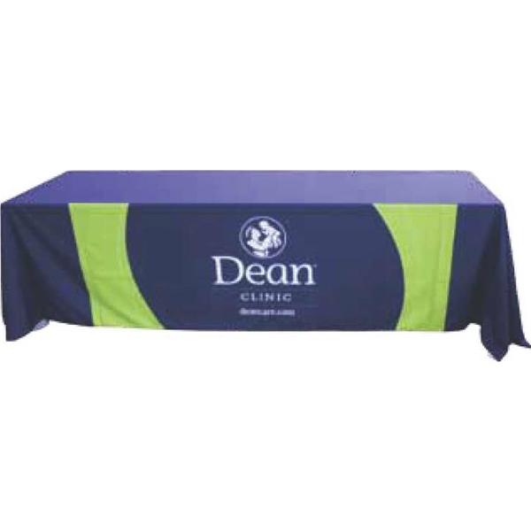 Screen-Printed Front Panel Only Convertible Table Throw