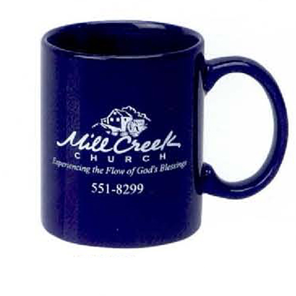 Customized 11 oz. C-Handle Mug (BK, CB)
