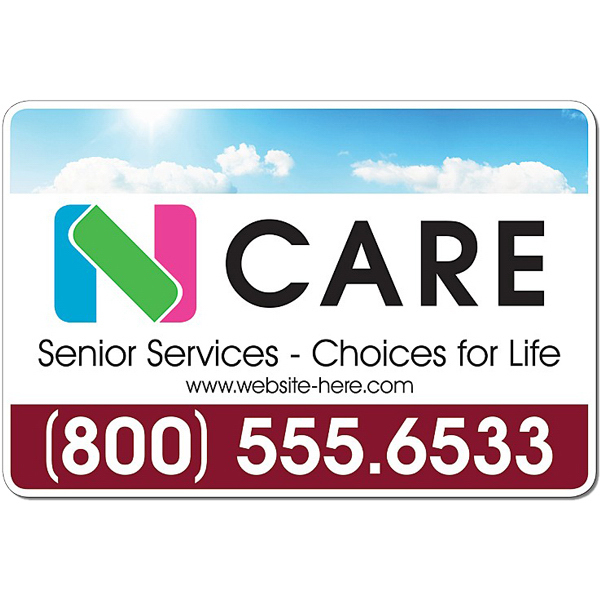 """Promotional Health Magnetic Car Signs 12"""" x 18"""" Round Corners"""
