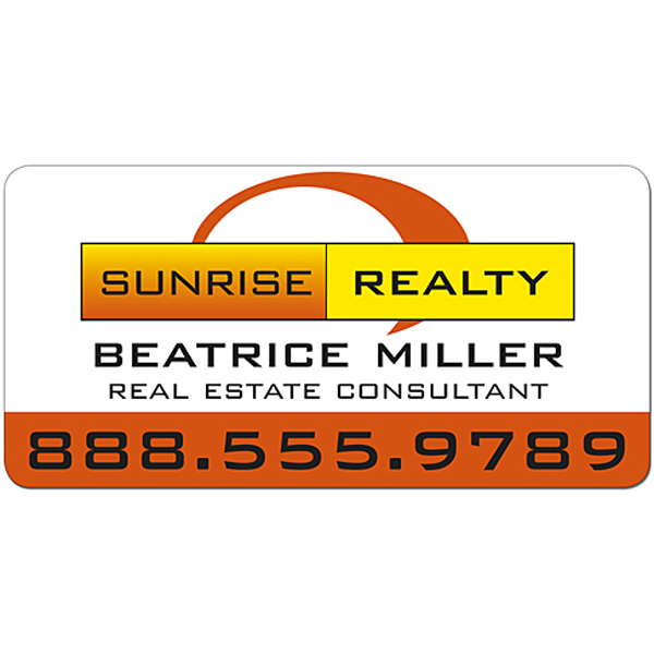 "Promotional Real Estate Magnetic Car Sign 24"" x 12"" Round Corners"
