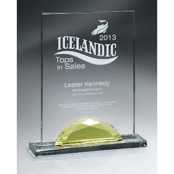 Optic Crystal Gemstone Award - Medium