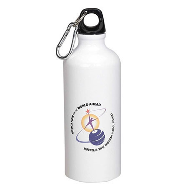 22 oz. Aluminum Bottle (White, Silver)