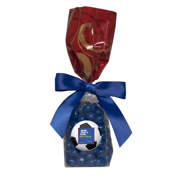 Mug Stuffer Gift Bag with Corporate Color Jelly Bean