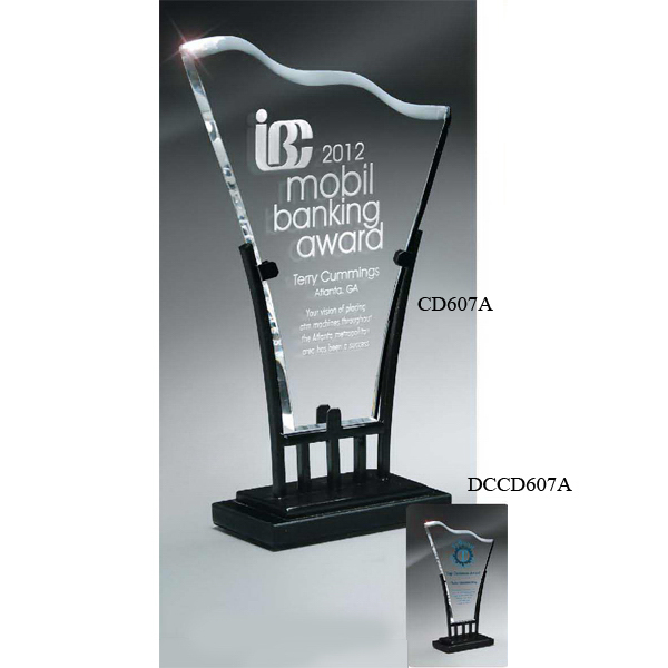 Wellington Iron and Lucite Award- Small with Digi-Color