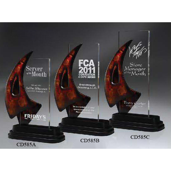 Personalized Jubilant Artistry Rectangle Lucite Award