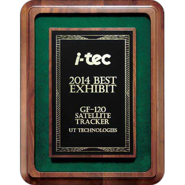 Rich Walnut Finish Frame Plaque with Green Felt