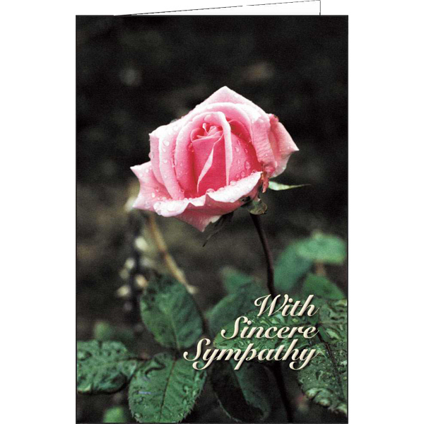 With Sincere Sympathy special occasion card