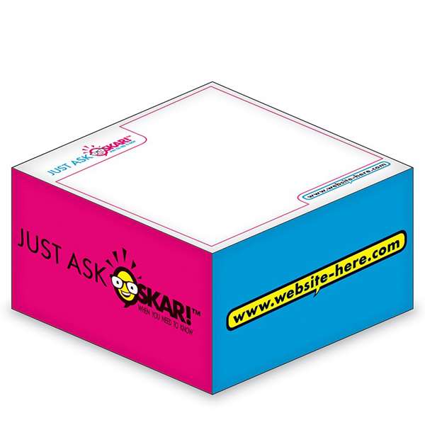 "Promotional Ad Cubes (TM) - Memo Notes - 3.875"" x 3.875"" x 1.9375"""