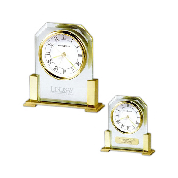Promotional Paramount Brass-Tone Clock