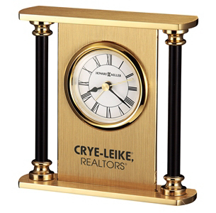 Imprinted Casey Brass Clock