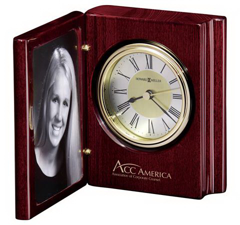 Imprinted Portrait Book-Photo Frame Clock