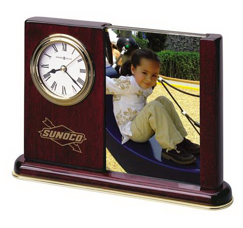 Imprinted Portrait Caddy Photo Frame Clock