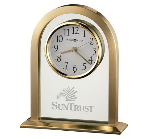Promotional Imperial Brass-Tone Clock